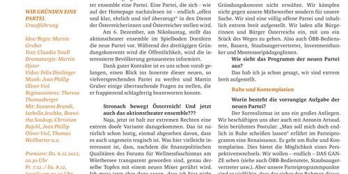 aktionstheater ensemble - Interview mit Martin Gruber